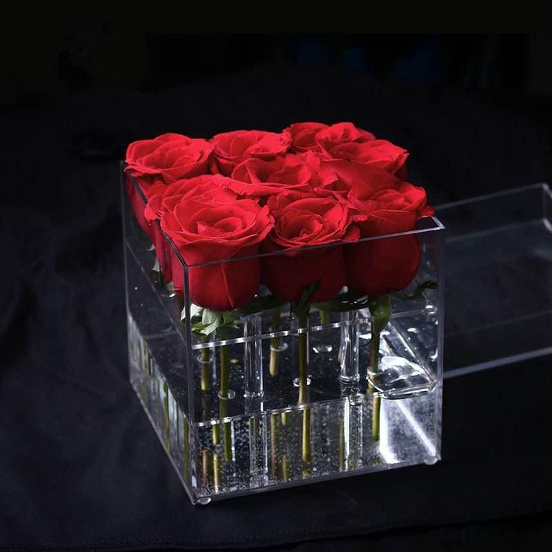 亚克力玫瑰花盒